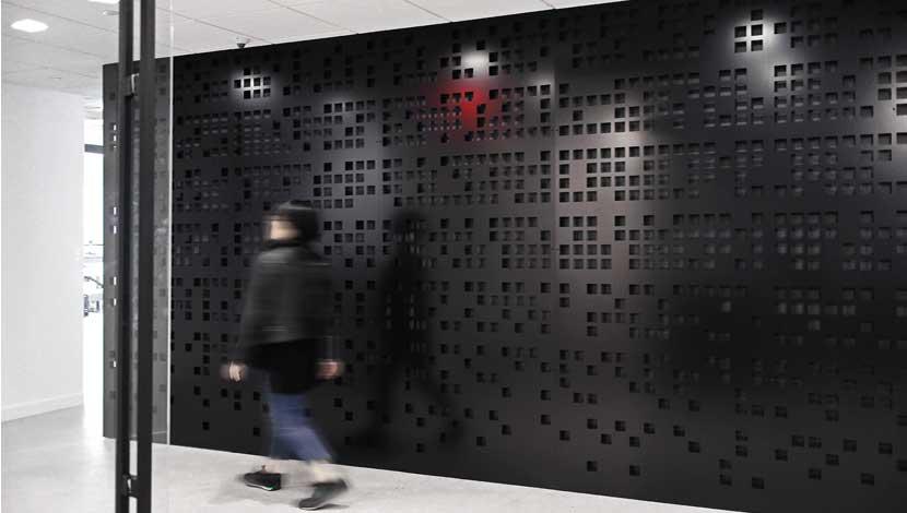 Rigid Light Bar >> Razortooth Design LLC. | Architectural Screens, Lobby