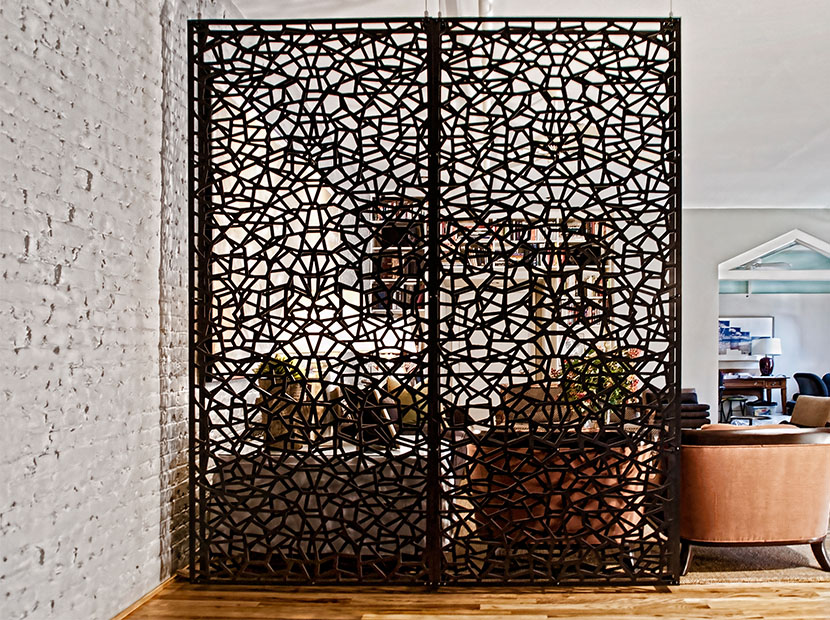 razortooth design llc architectural screens lobby feature walls lobby design decorative. Black Bedroom Furniture Sets. Home Design Ideas