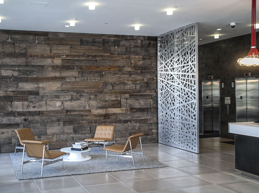 Razortooth Design Llc Architectural Screens Lobby Feature Walls Lobby Design Decorative